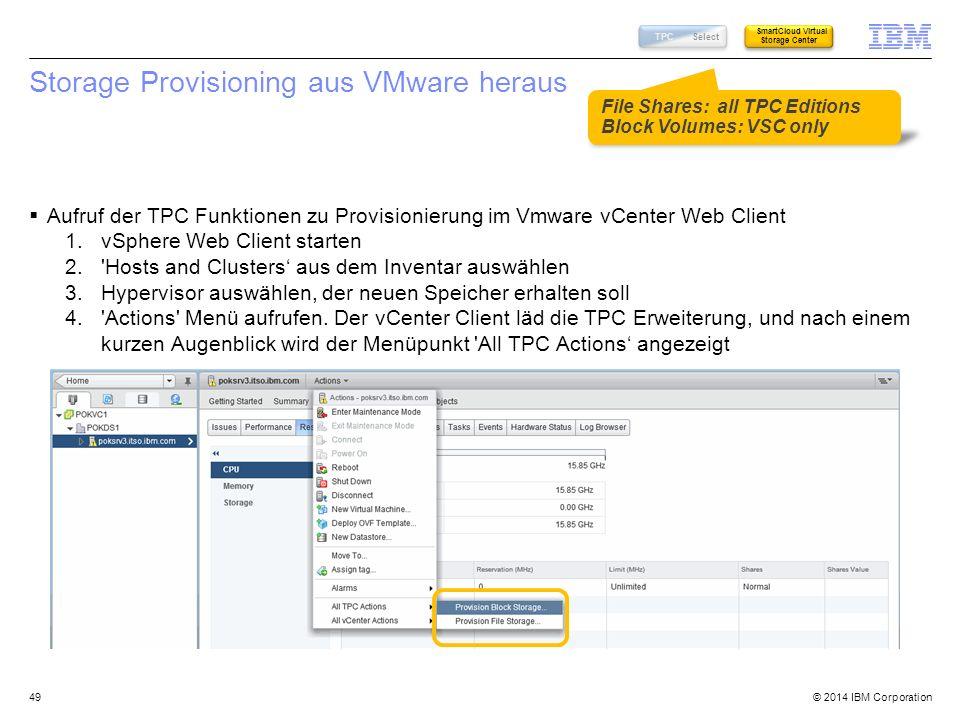Storage Provisioning aus VMware heraus