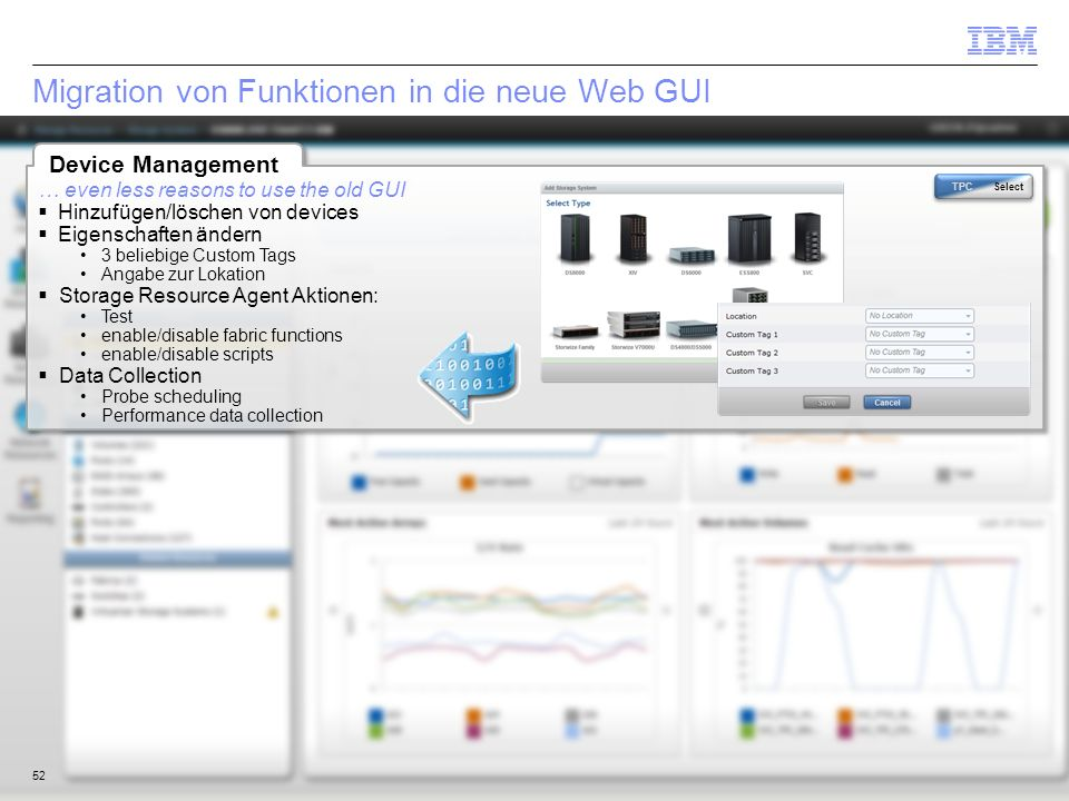 Migration von Funktionen in die neue Web GUI