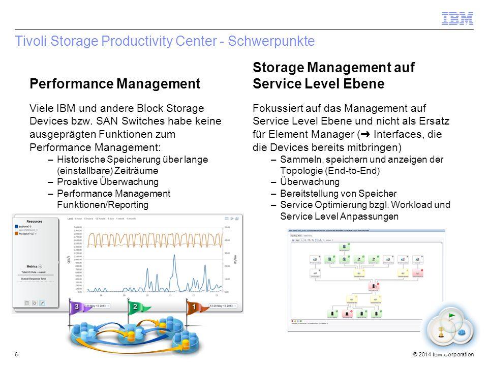 Tivoli Storage Productivity Center - Schwerpunkte