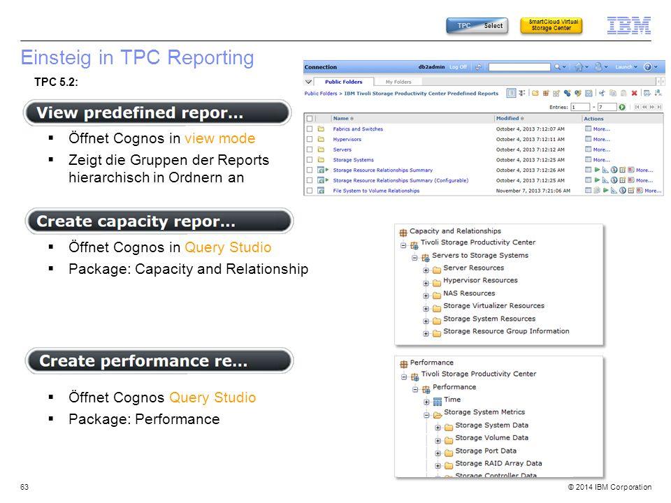 Einsteig in TPC Reporting