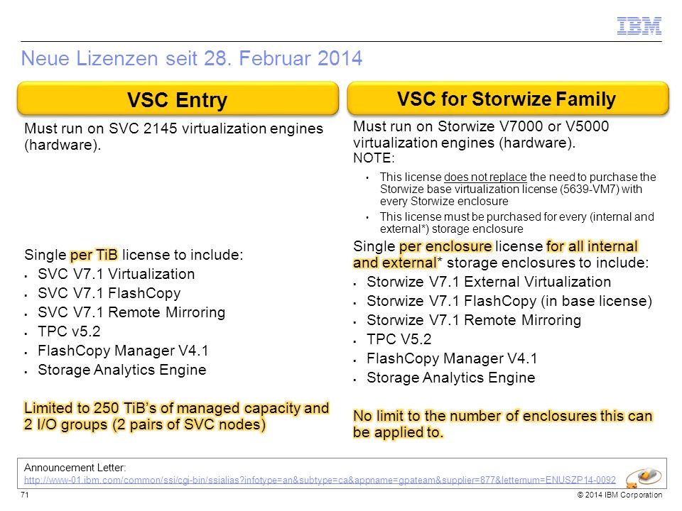 Neue Lizenzen seit 28. Februar 2014