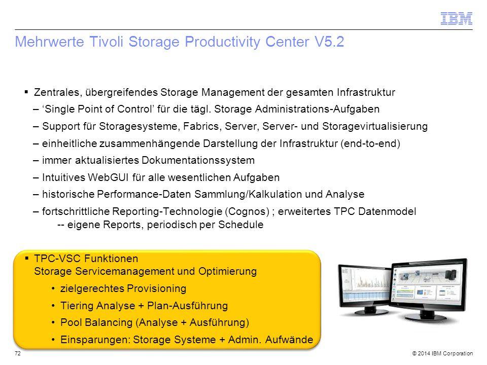 Mehrwerte Tivoli Storage Productivity Center V5.2
