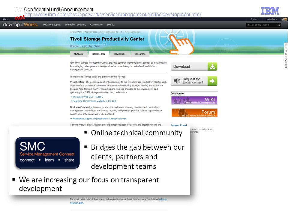 Online technical community