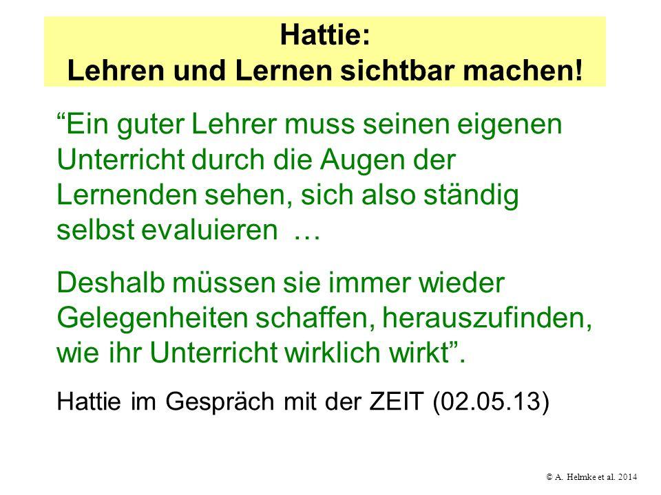 Hattie: Lehren und Lernen sichtbar machen!