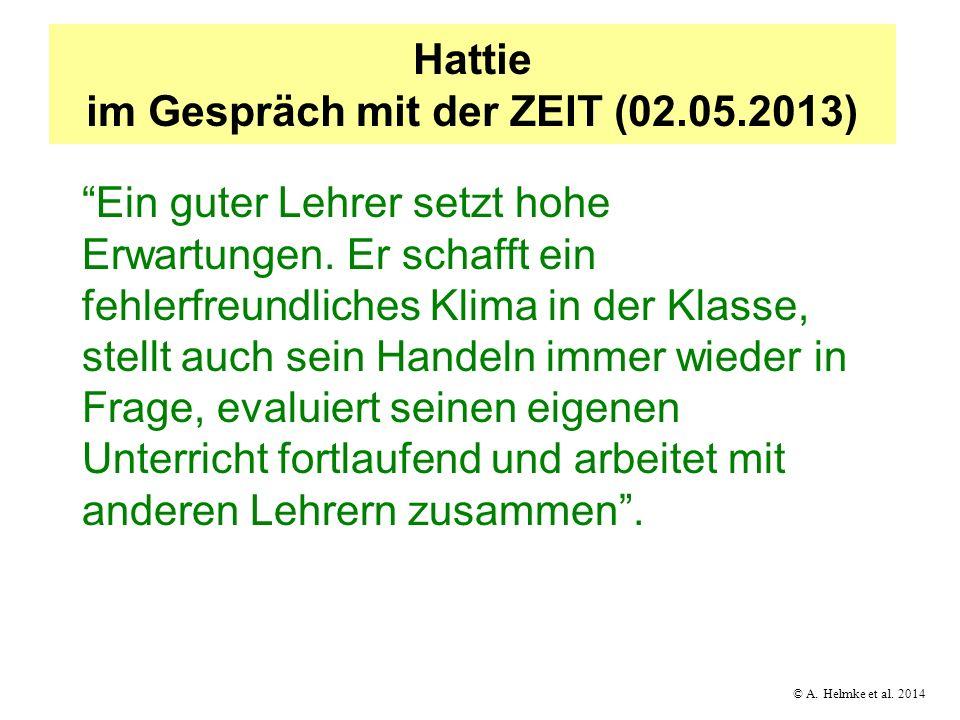 Hattie im Gespräch mit der ZEIT (02.05.2013)