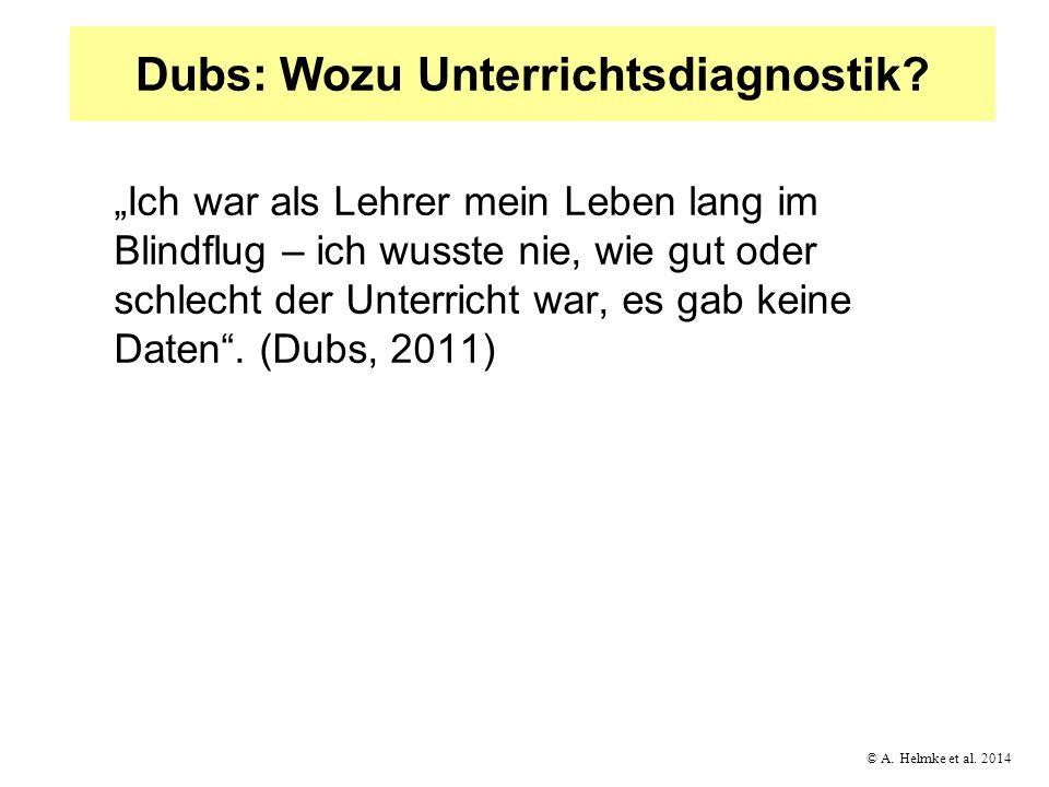 Dubs: Wozu Unterrichtsdiagnostik