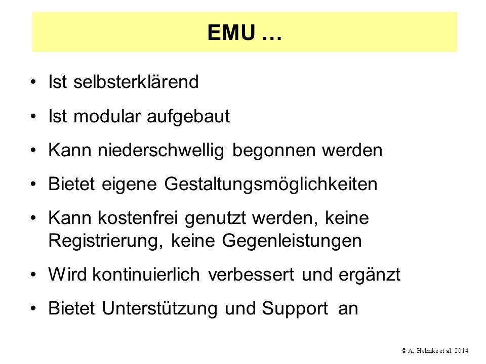EMU … Ist selbsterklärend Ist modular aufgebaut