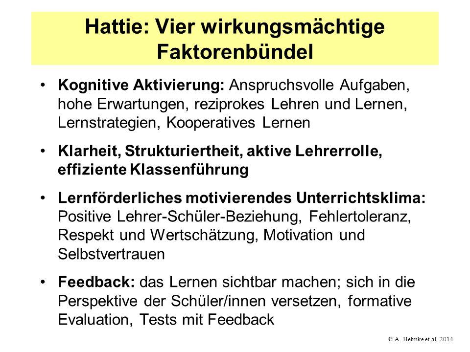 Hattie: Vier wirkungsmächtige Faktorenbündel