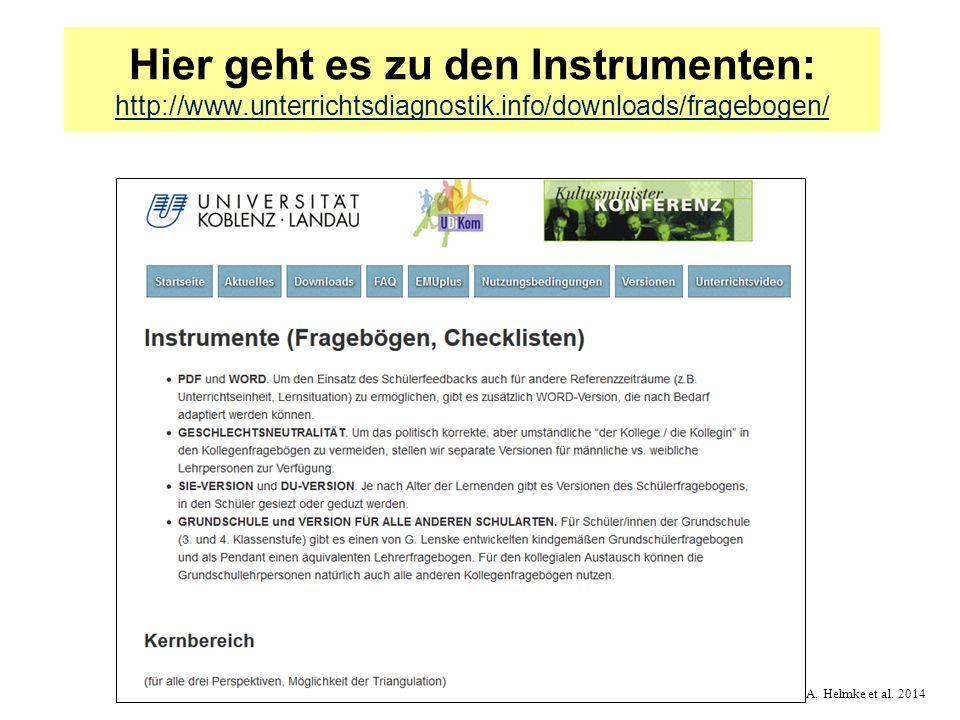 Hier geht es zu den Instrumenten: http://www. unterrichtsdiagnostik