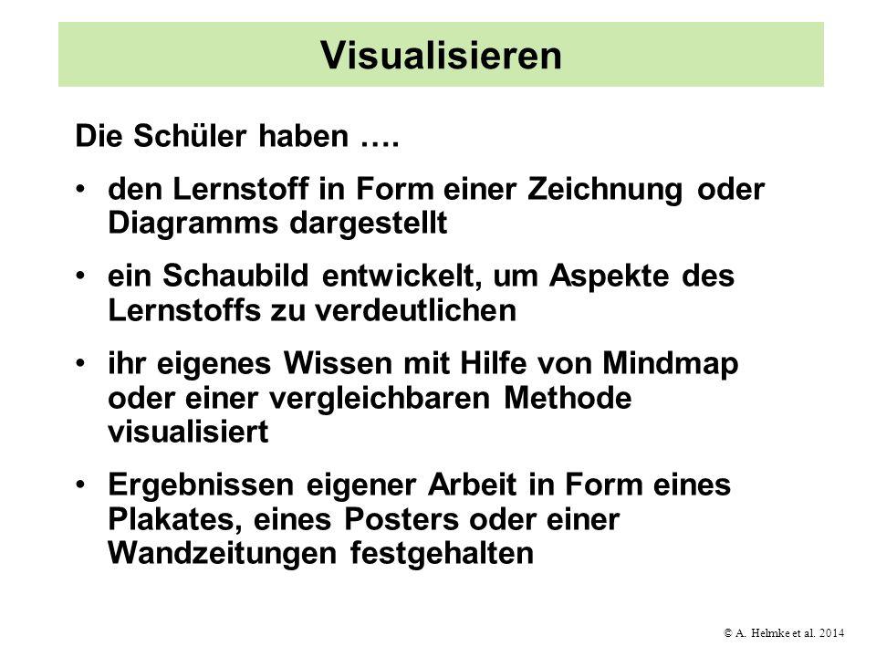 Visualisieren Die Schüler haben ….