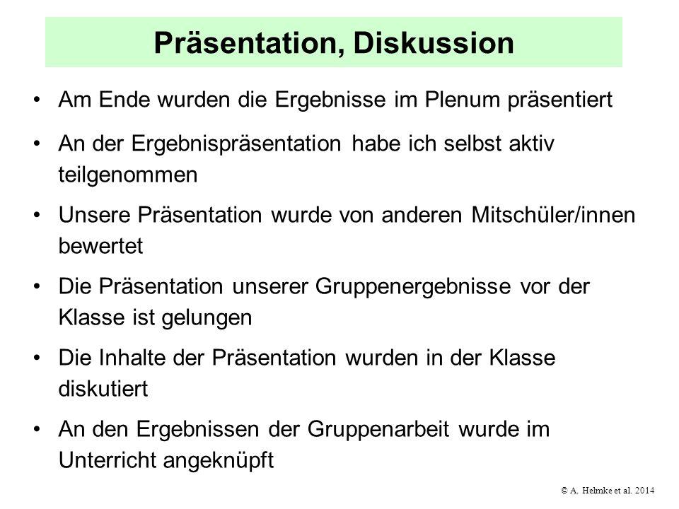 Präsentation, Diskussion