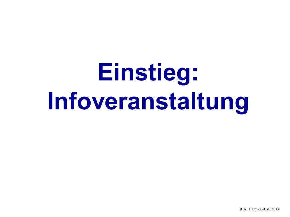 Einstieg: Infoveranstaltung