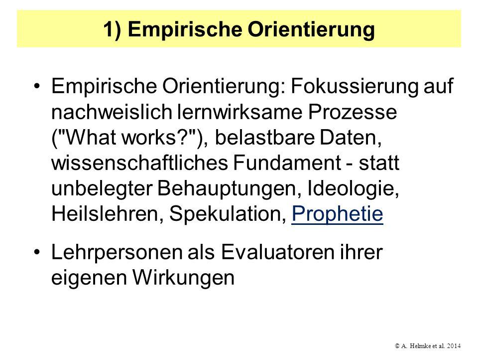 1) Empirische Orientierung