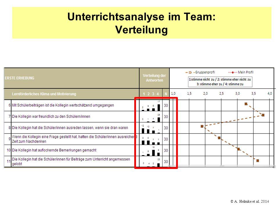 Unterrichtsanalyse im Team: Verteilung