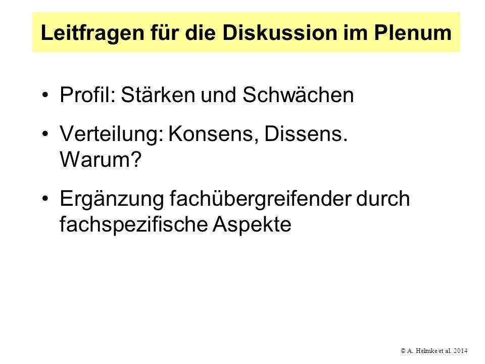 Leitfragen für die Diskussion im Plenum