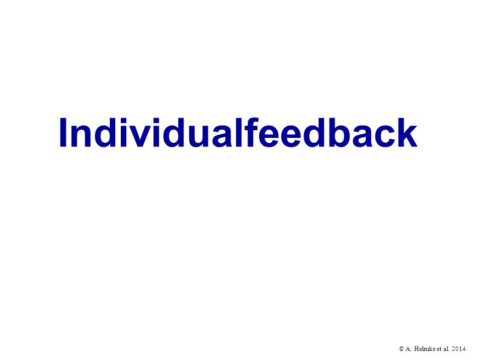 Individualfeedback