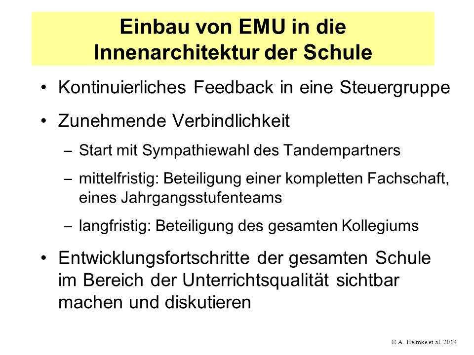 Einbau von EMU in die Innenarchitektur der Schule