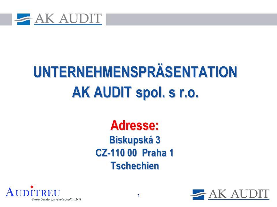 Adresse: Biskupská 3 CZ-110 00 Praha 1 Tschechien