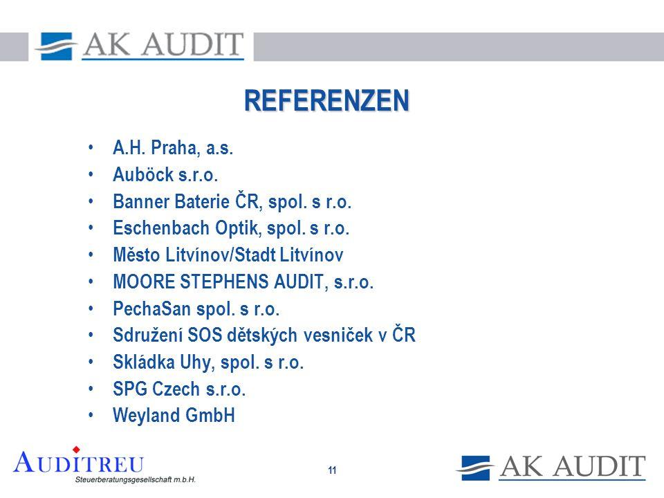 REFERENZEN A.H. Praha, a.s. Auböck s.r.o.