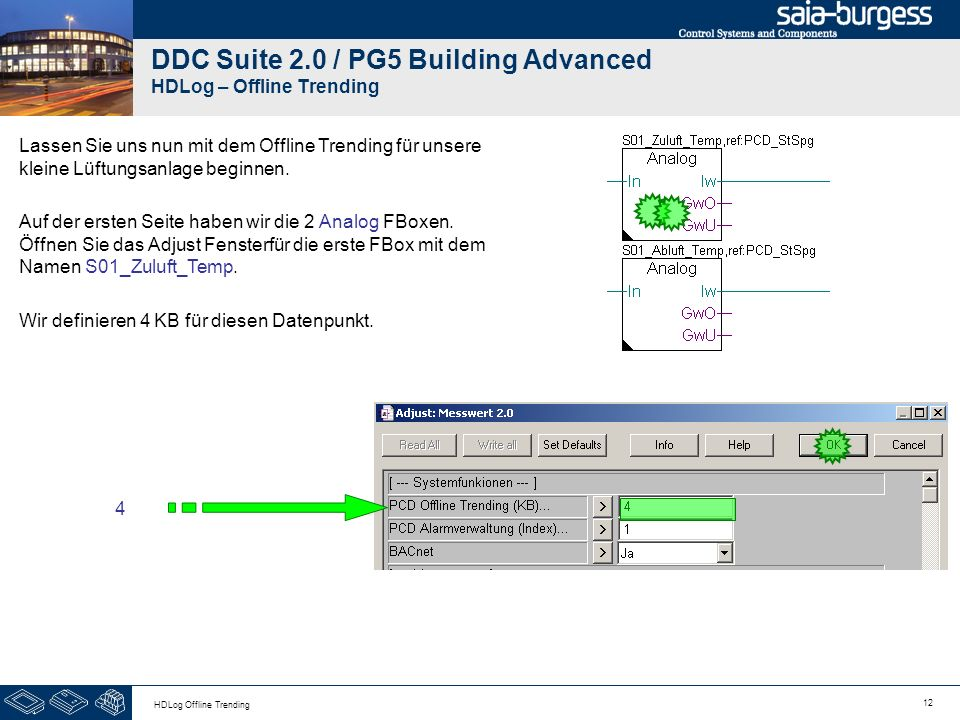 DDC Suite 2.0 / PG5 Building Advanced HDLog – Offline Trending