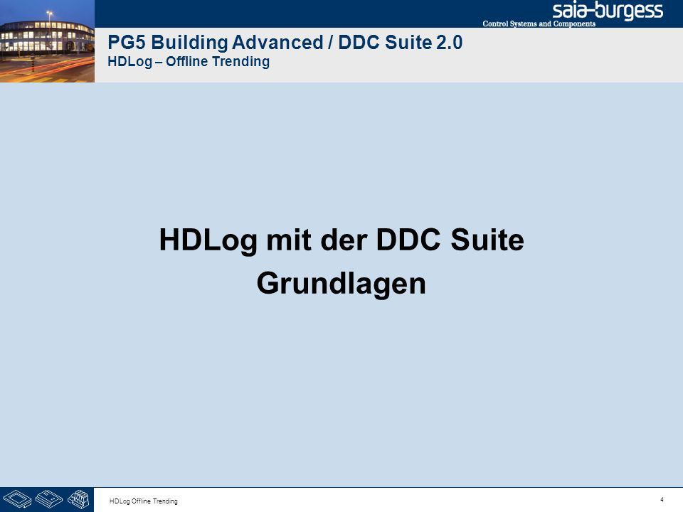 PG5 Building Advanced / DDC Suite 2.0 HDLog – Offline Trending