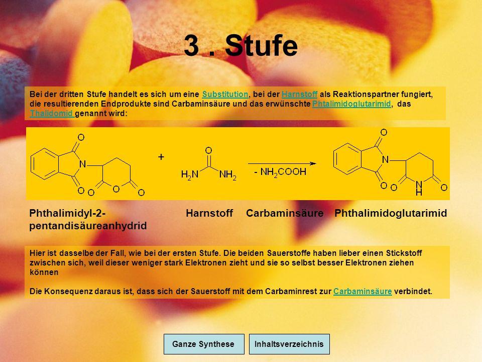3 . Stufe + Phthalimidyl-2-pentandisäureanhydrid Harnstoff
