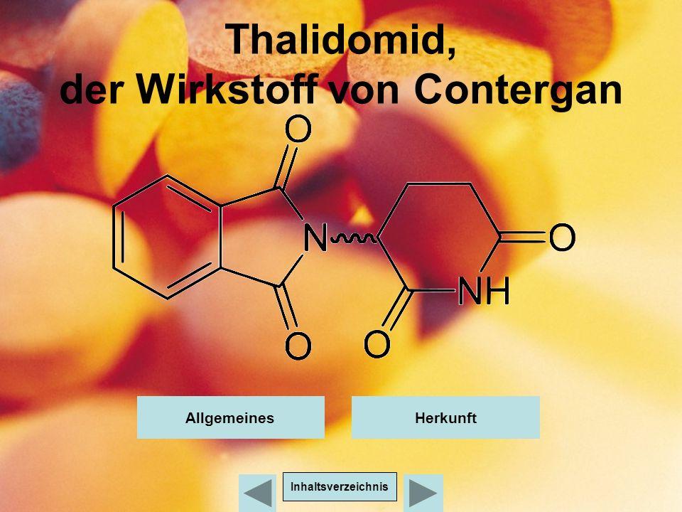 Thalidomid, der Wirkstoff von Contergan