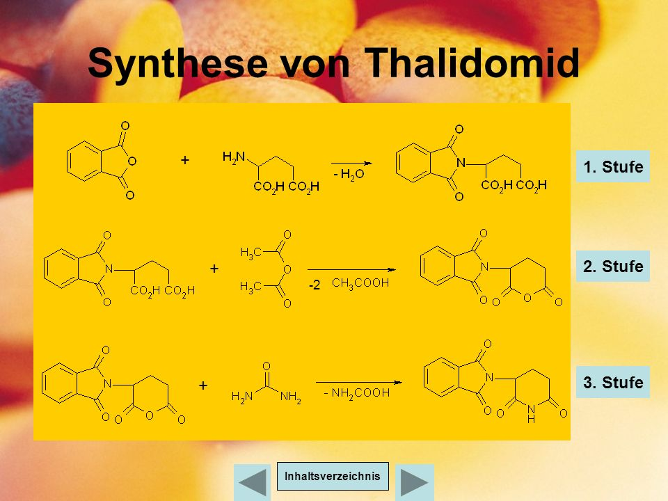Synthese von Thalidomid