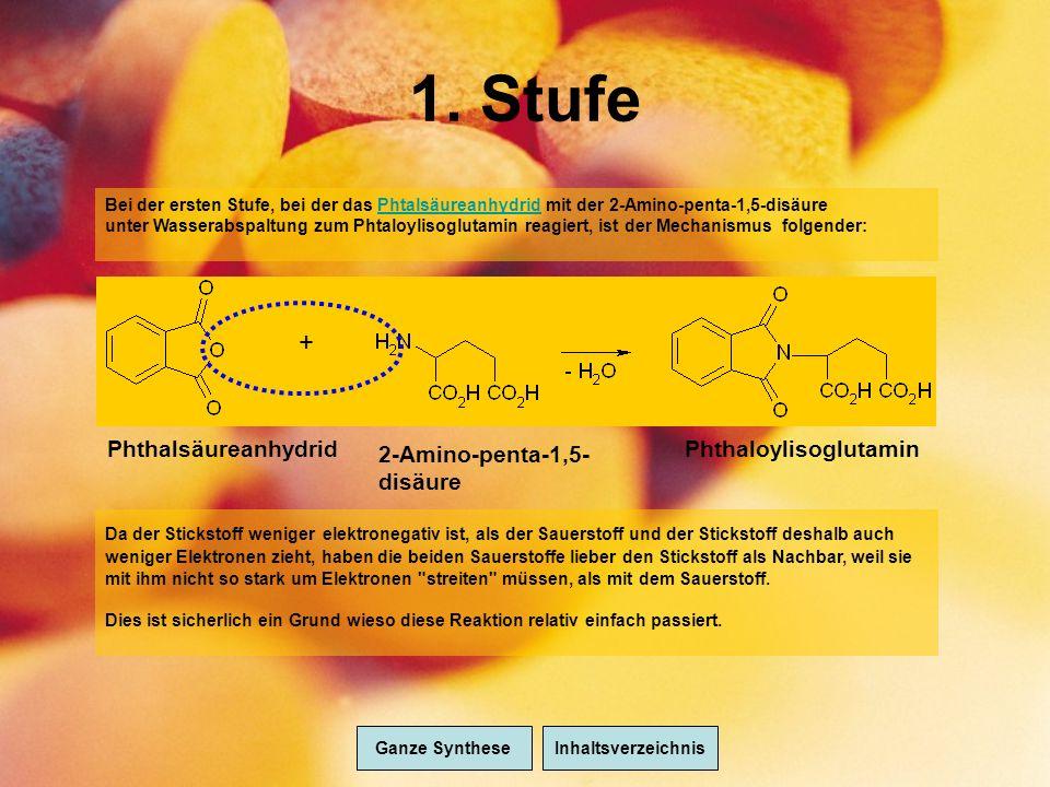 1. Stufe + Phthalsäureanhydrid 2-Amino-penta-1,5-disäure