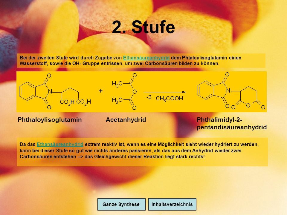 2. Stufe + Phthaloylisoglutamin Acetanhydrid