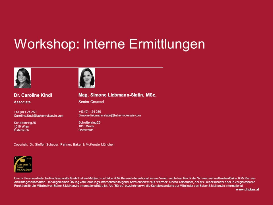 Workshop: Interne Ermittlungen