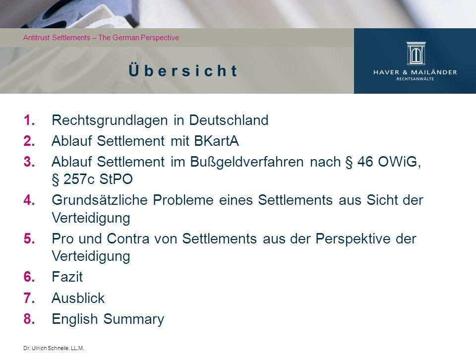 Ü b e r s i c h t Rechtsgrundlagen in Deutschland