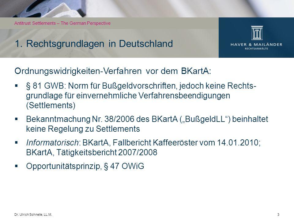 1. Rechtsgrundlagen in Deutschland