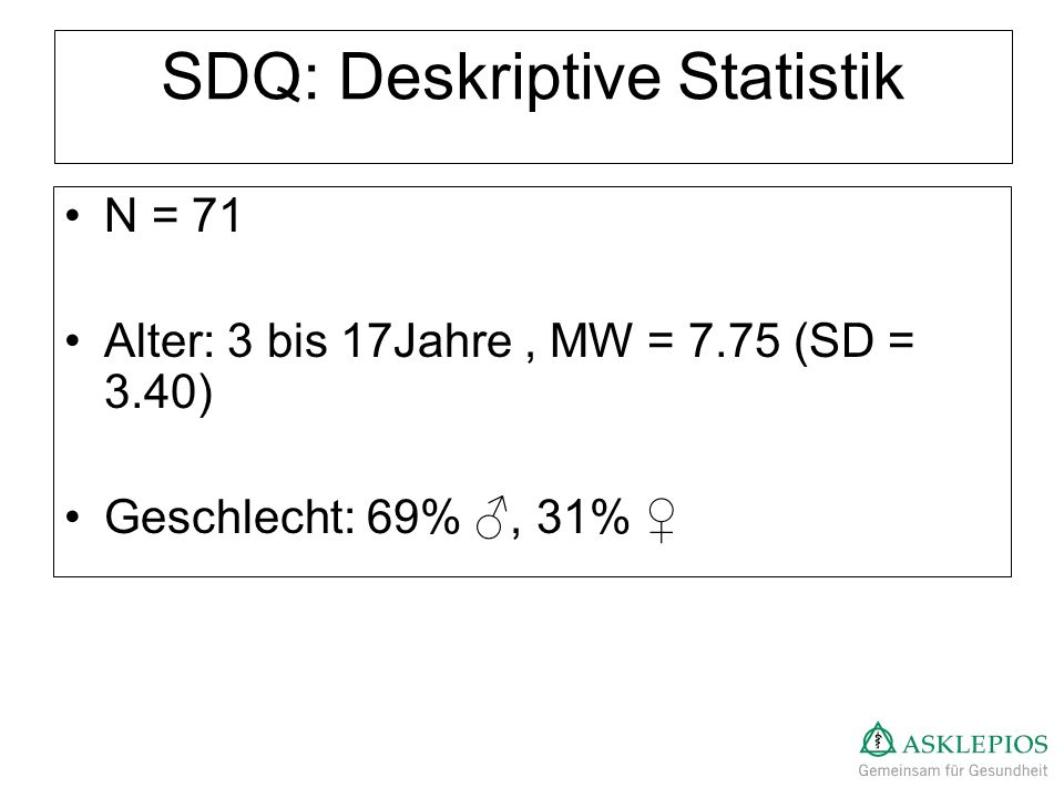 SDQ: Deskriptive Statistik