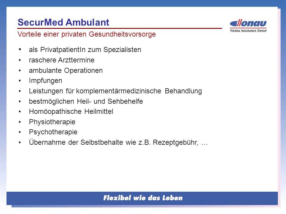 SecurMed Ambulant als PrivatpatientIn zum Spezialisten