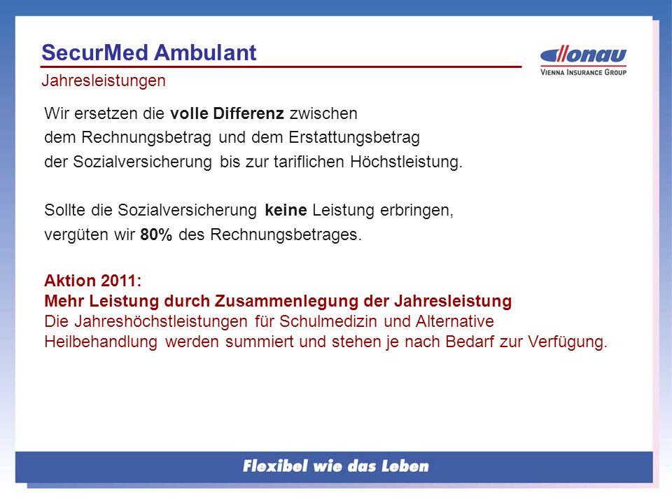 SecurMed Ambulant Jahresleistungen