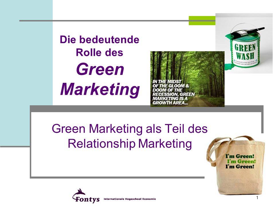Die bedeutende Rolle des Green Marketing