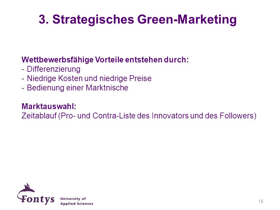 3. Strategisches Green-Marketing