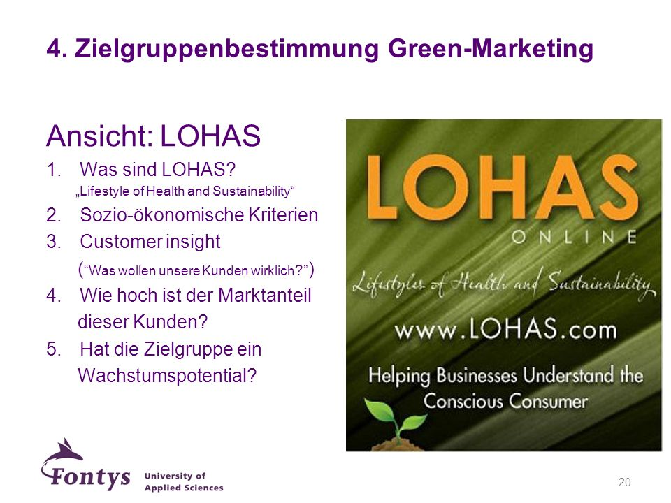 4. Zielgruppenbestimmung Green-Marketing