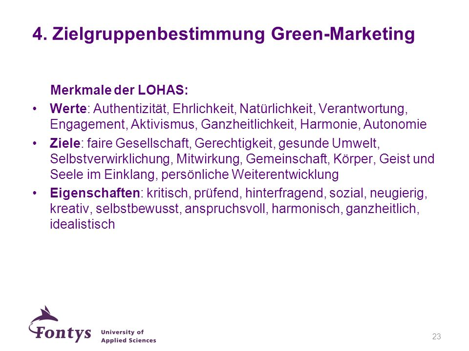 4. Zielgruppenbestimmung Green-Marketing