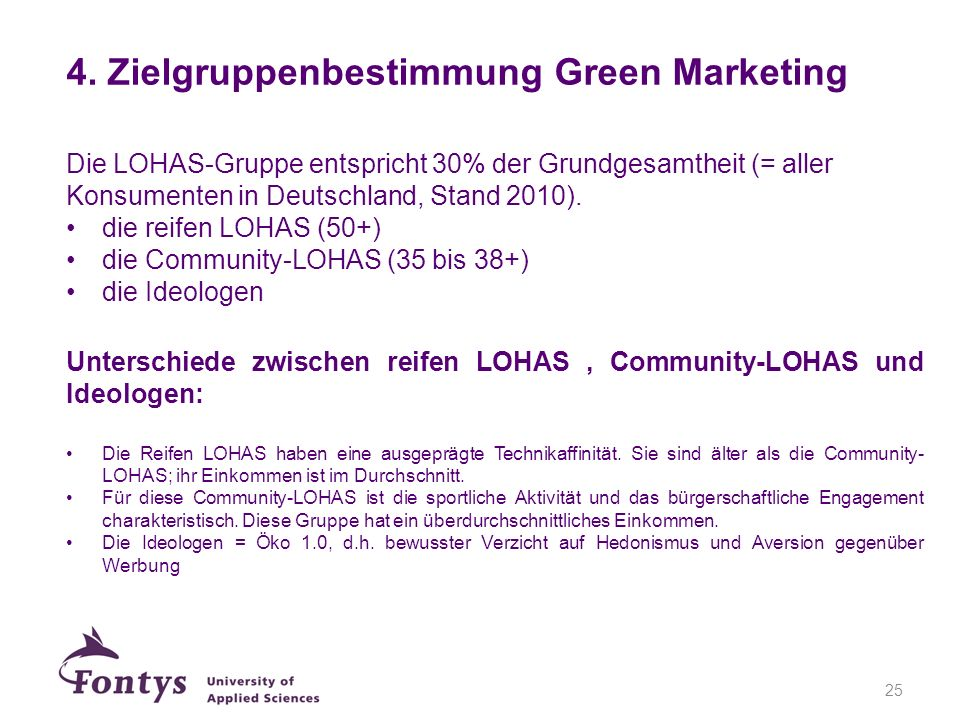 4. Zielgruppenbestimmung Green Marketing