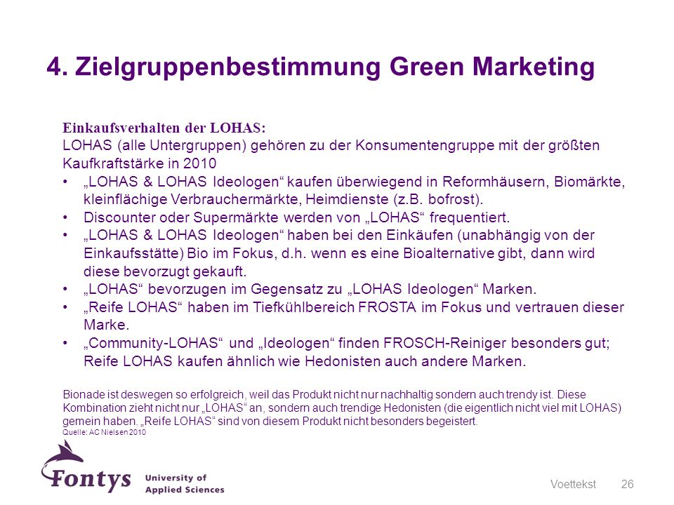 4. Zielgruppenbestimmung Green Marketing
