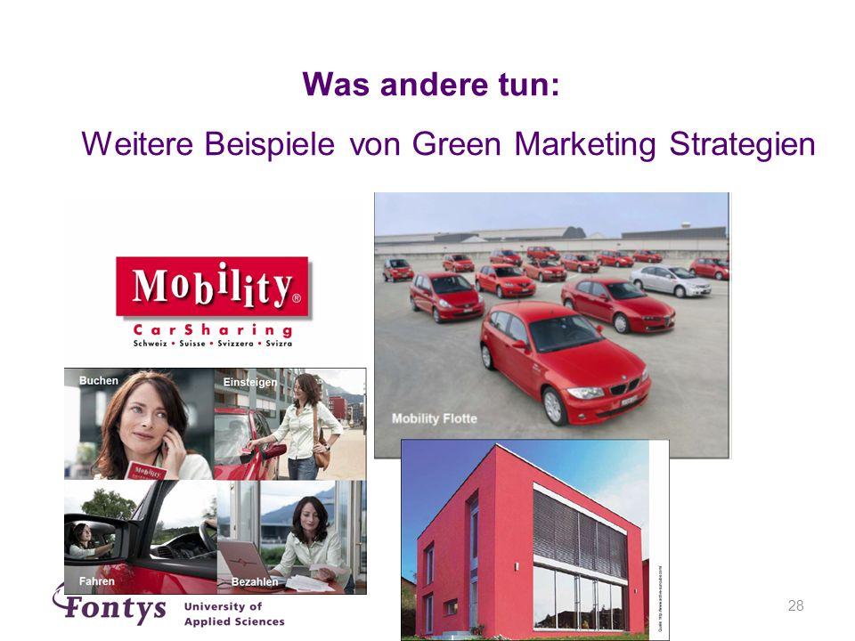 Was andere tun: Weitere Beispiele von Green Marketing Strategien
