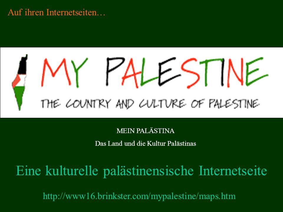 Eine kulturelle palästinensische Internetseite