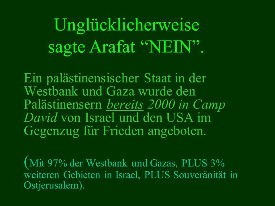 Unglücklicherweise sagte Arafat NEIN .