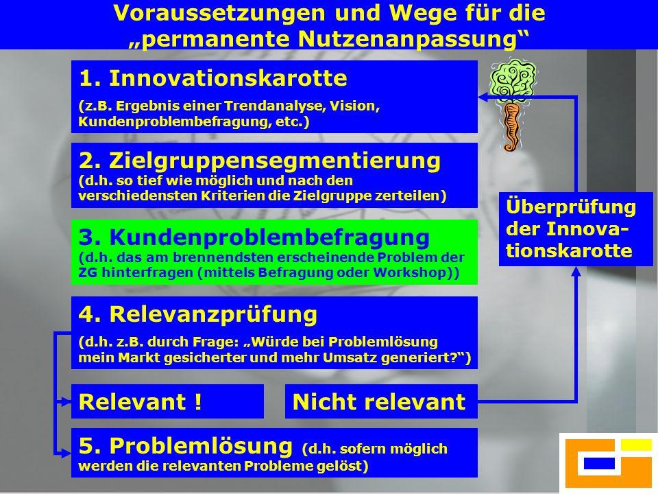 """Voraussetzungen und Wege für die """"permanente Nutzenanpassung"""