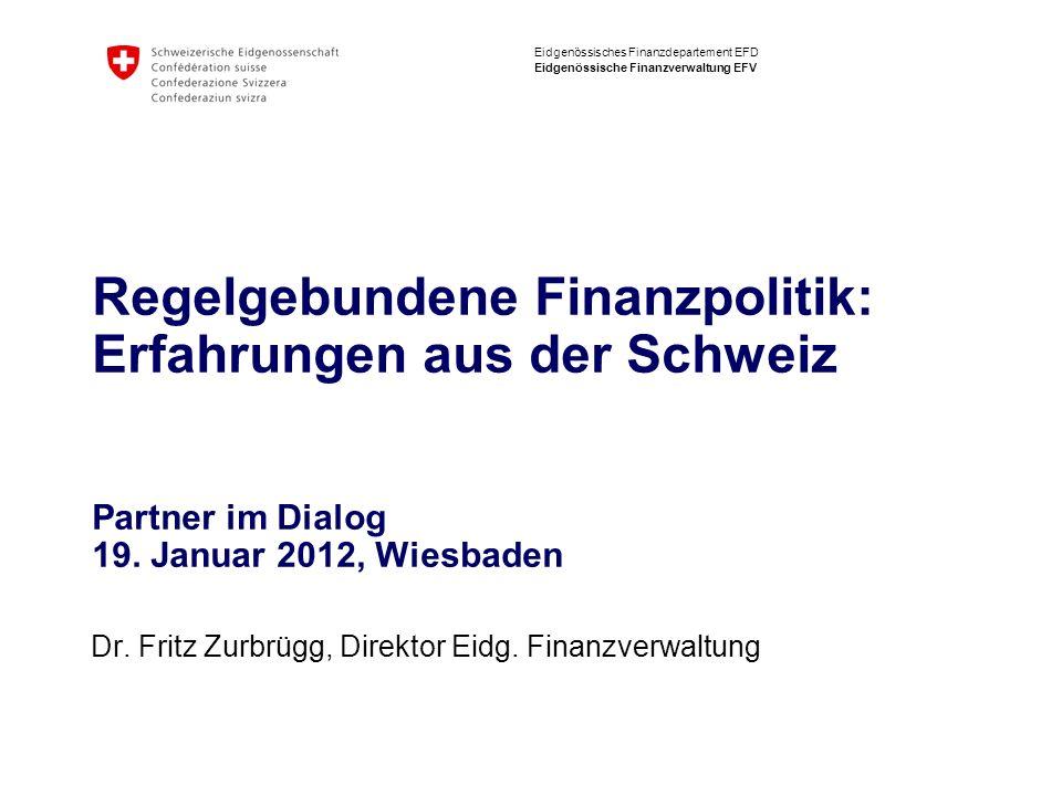 Dr. Fritz Zurbrügg, Direktor Eidg. Finanzverwaltung