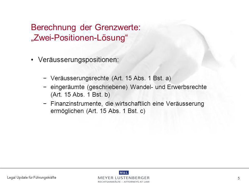 """Berechnung der Grenzwerte: """"Zwei-Positionen-Lösung"""