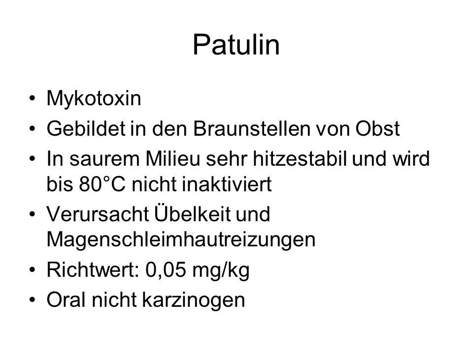 Patulin Mykotoxin Gebildet in den Braunstellen von Obst