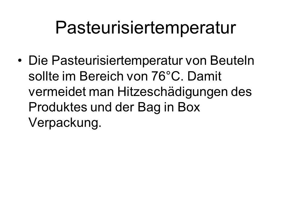 Pasteurisiertemperatur
